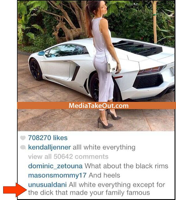 DAYUMMMMMM . . . Folks On Instagram Have Absolutely NO CHILL . . . Look At This Comment They Left On KENDALL Jenner's Page!!! - MediaTakeOut.com™ 2014