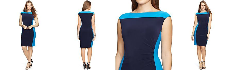Lauren Ralph Lauren Plus Size Colorblocked Sheath Dress