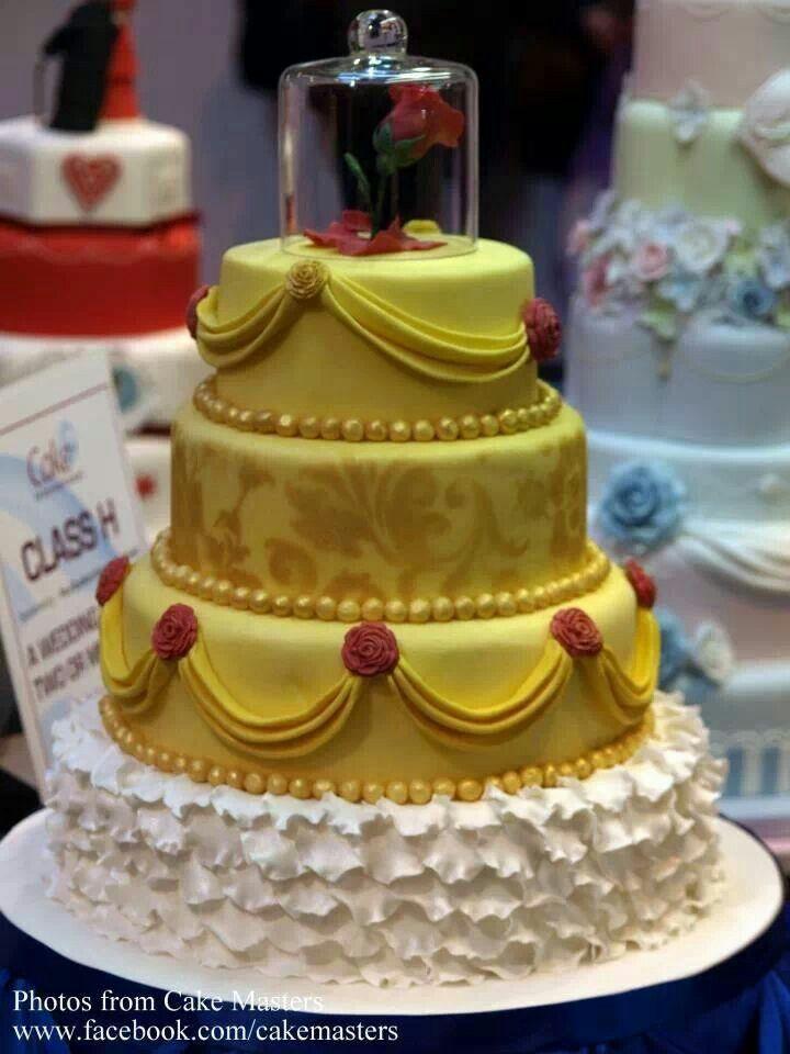 Beauty and the Beast cake! Loooove!