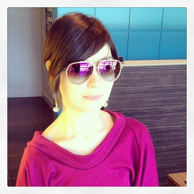 1341247faf69  Nina Ljutic looking fabulous in the new CONDOR-TWO by  DITA eyewear .  These pink mirrored lenses are sure to draw some attention.