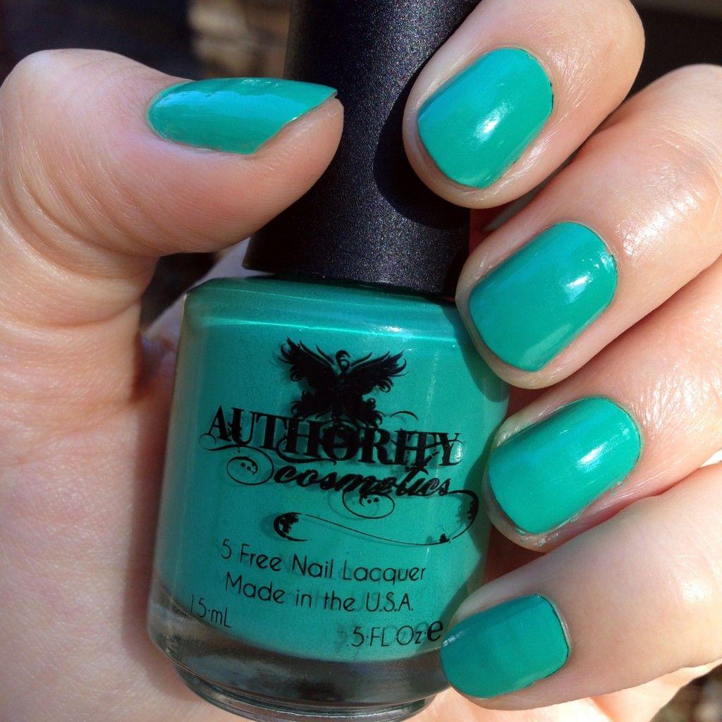 Authority Cosmetics nail polish nontoxic, vegan,