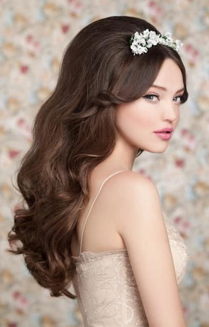 Wedding Hairstyles 2012 Most Beautiful Wedding Hairstyles 2012 9 Large Hair Styles Wavy Wedding Hair Long Hair Styles