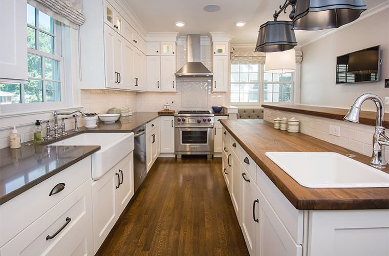 Updated Farmhouse Kitchen Integrates Butlers Pantry And Cozy