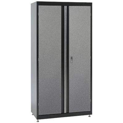 Grey Steel Storage Cupboard 2 Door Tall Lockable Bookcase Filing Cabinet Unit 1850mm Heavy Duty Shelving X 4 Cupboard Storage Storage Tall Cabinet Storage