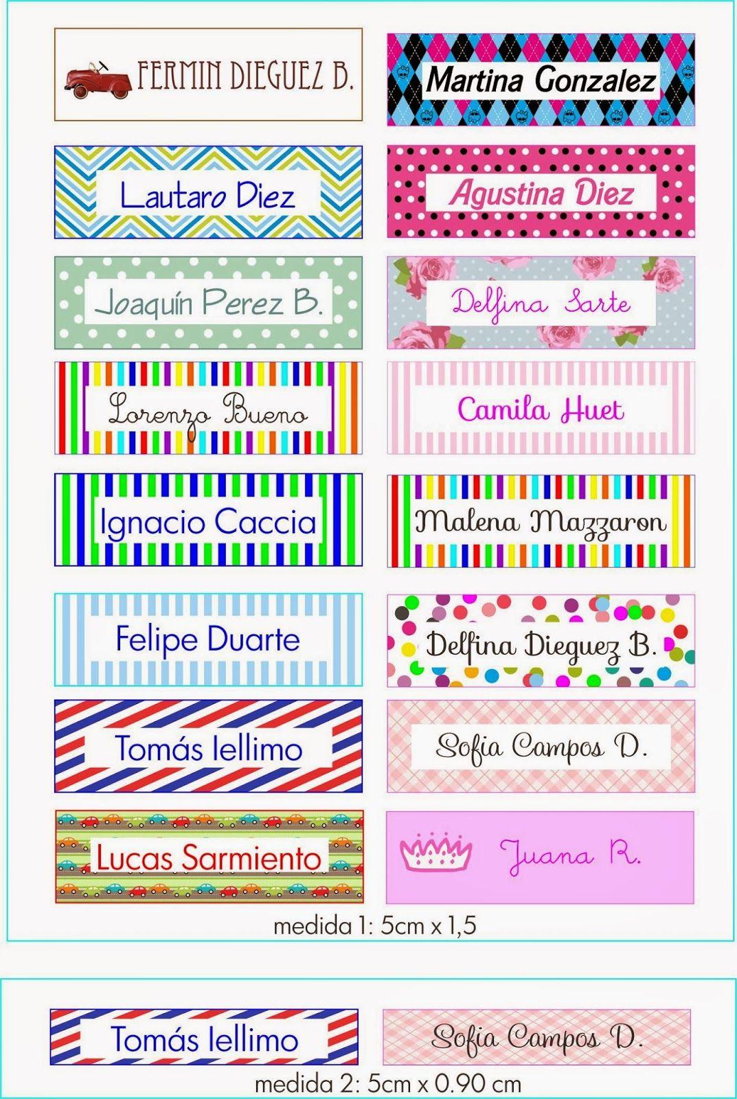 Formatos De Etiquetas Escolares Para Imprimir Etiquetas Escolares Para Imprimir Son Editables Bs