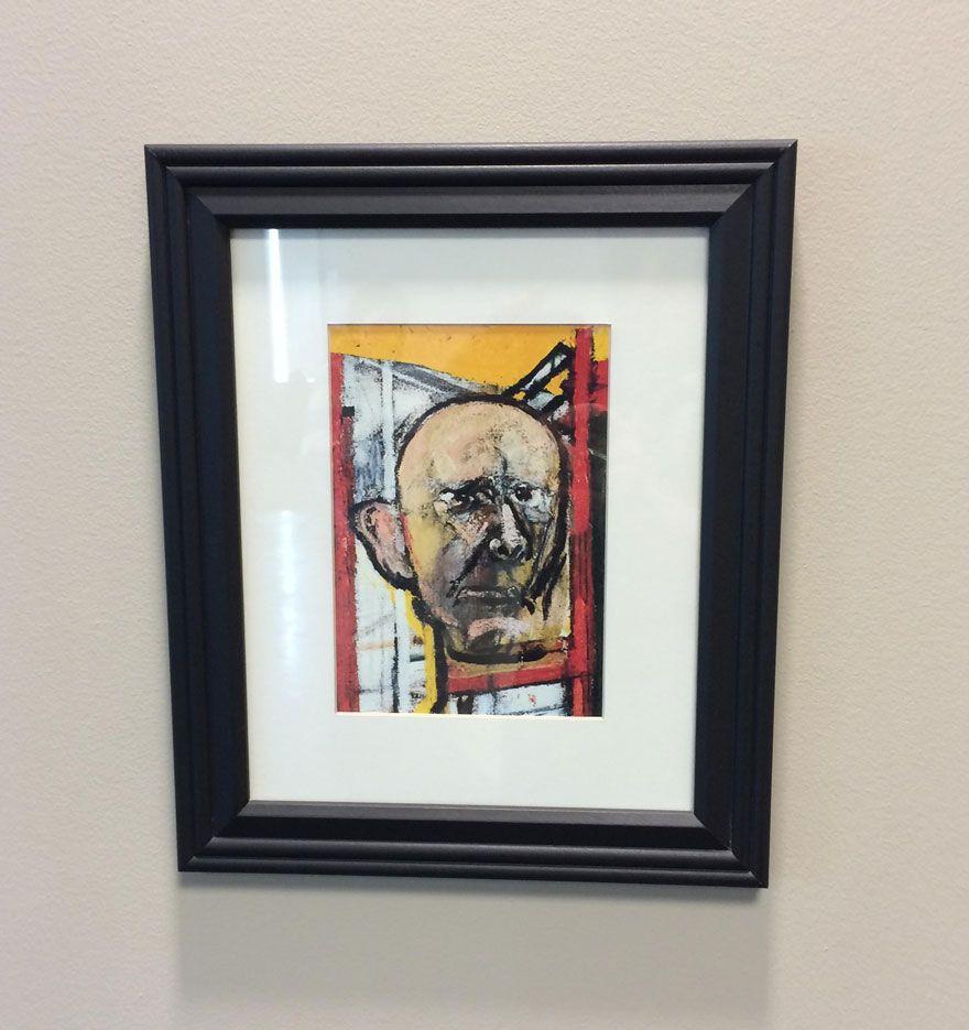 Un artista con l'Alzheimer ha dipinto il suo ritratto per 5 anni finché a stento ricordava il proprio volto