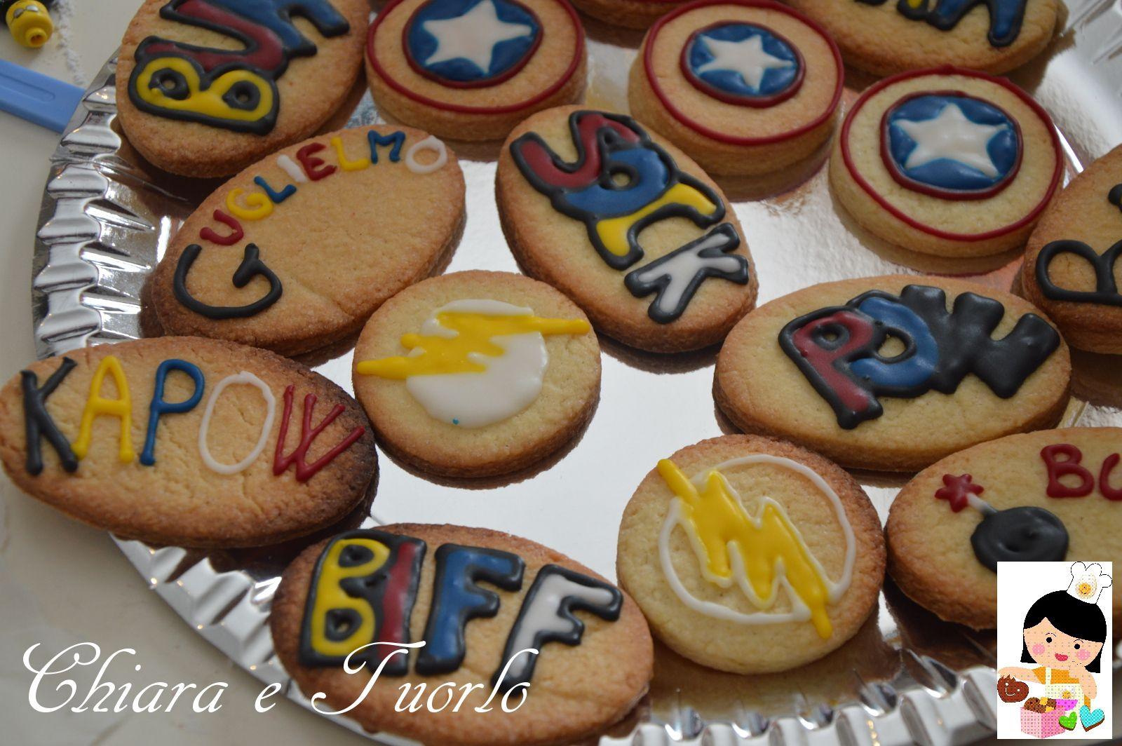 Biscotti Bambini ~ Biscotti dei supereroi superhero cookies idee per feste per