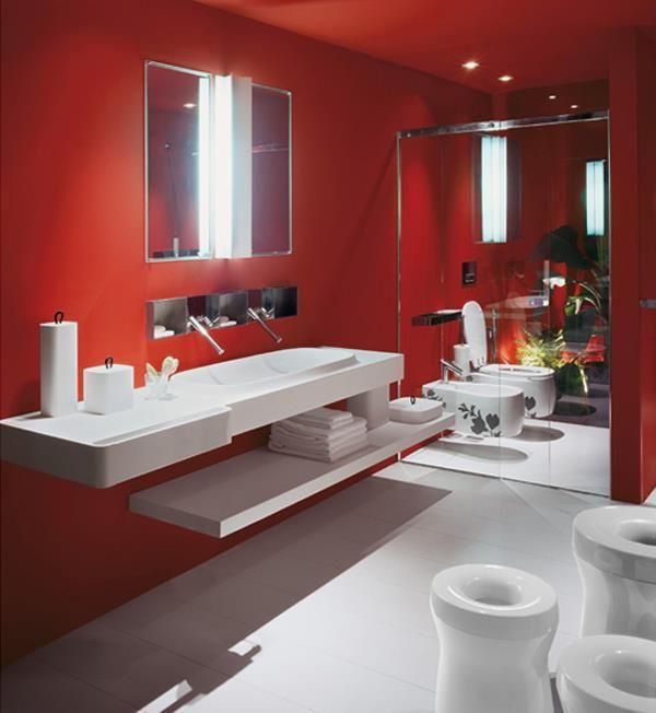 Os Gusta El Rojo Para Un Cuarto De Bano Pinned With Pinvolve Trendy Paint Colors Interior Lighted Bathroom Mirror