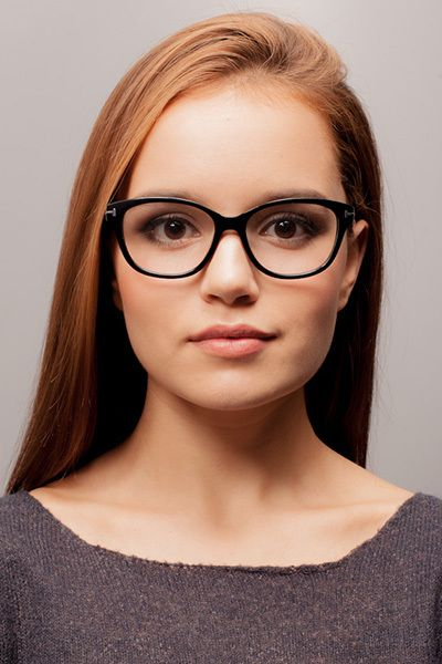 64b7d742e1f Mia Farrow Black Acetate Eyeglasses from EyeBuyDirect. A fashionable frame  with great quality and an affordable price. Come see to discover your style.