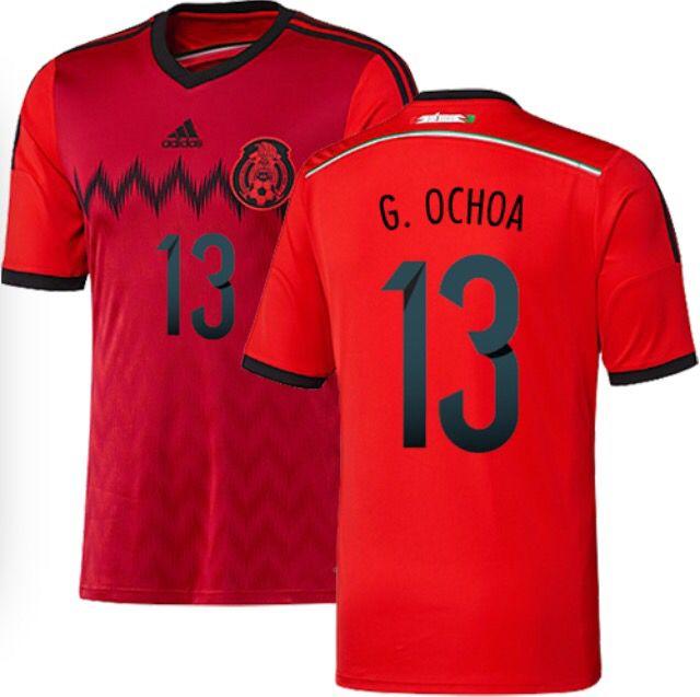 13 Ochoa Mexico Jersey Mexico Away Jersey Ochoa Mexico Mexico World Cup