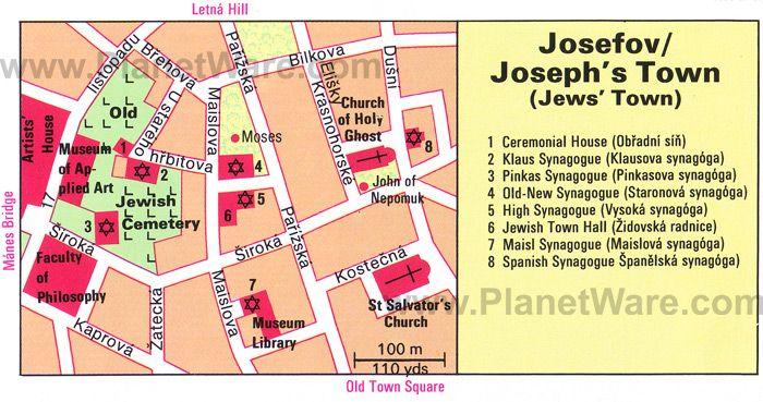 Josefov (Joseph\'s Town) map   Travel   Pinterest   Prague, Prague ...