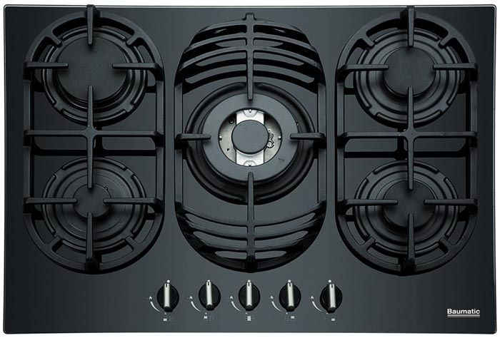 Baumatic Bgg70 Built In Gas On Glass Hob 70cm 5burner Black Power Direct Online Electrical Superstore 249 97 Gas Hob Hobs Gas