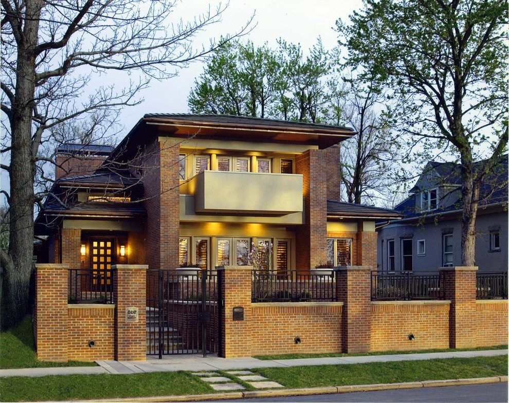 Iron And Brick Fence Craftsman Denver With Universal Front Doors Fence Styles Boundary Walls