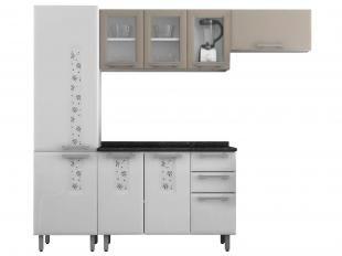 Cozinha Compacta Itatiaia Essencial Nature 8 Portas 3 Gavetas