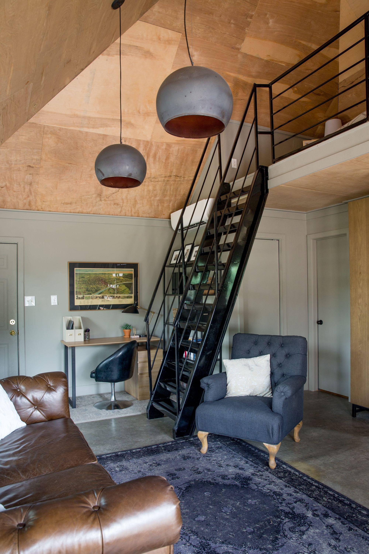 Tour A Modest Modern Custom 400 Square Foot Garage Home Loft