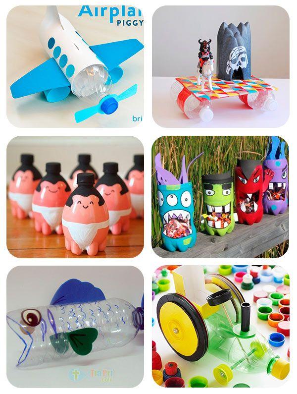 30 manualidades recicladas con botellas craft - Manualidades con vasos de plastico ...