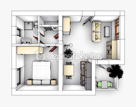 Apartment #drawing #Stock #Image My depositphotos portfolio