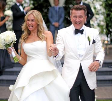 'DWTS' Kym Johnson's Wedding Dress On Fire Walking to Altar