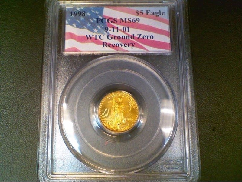 1 10 Ounce Gold Eagle Coin Bullion 1998 Pcgs Graded Ms69 188 Gold Eagle Coins Eagle Coin