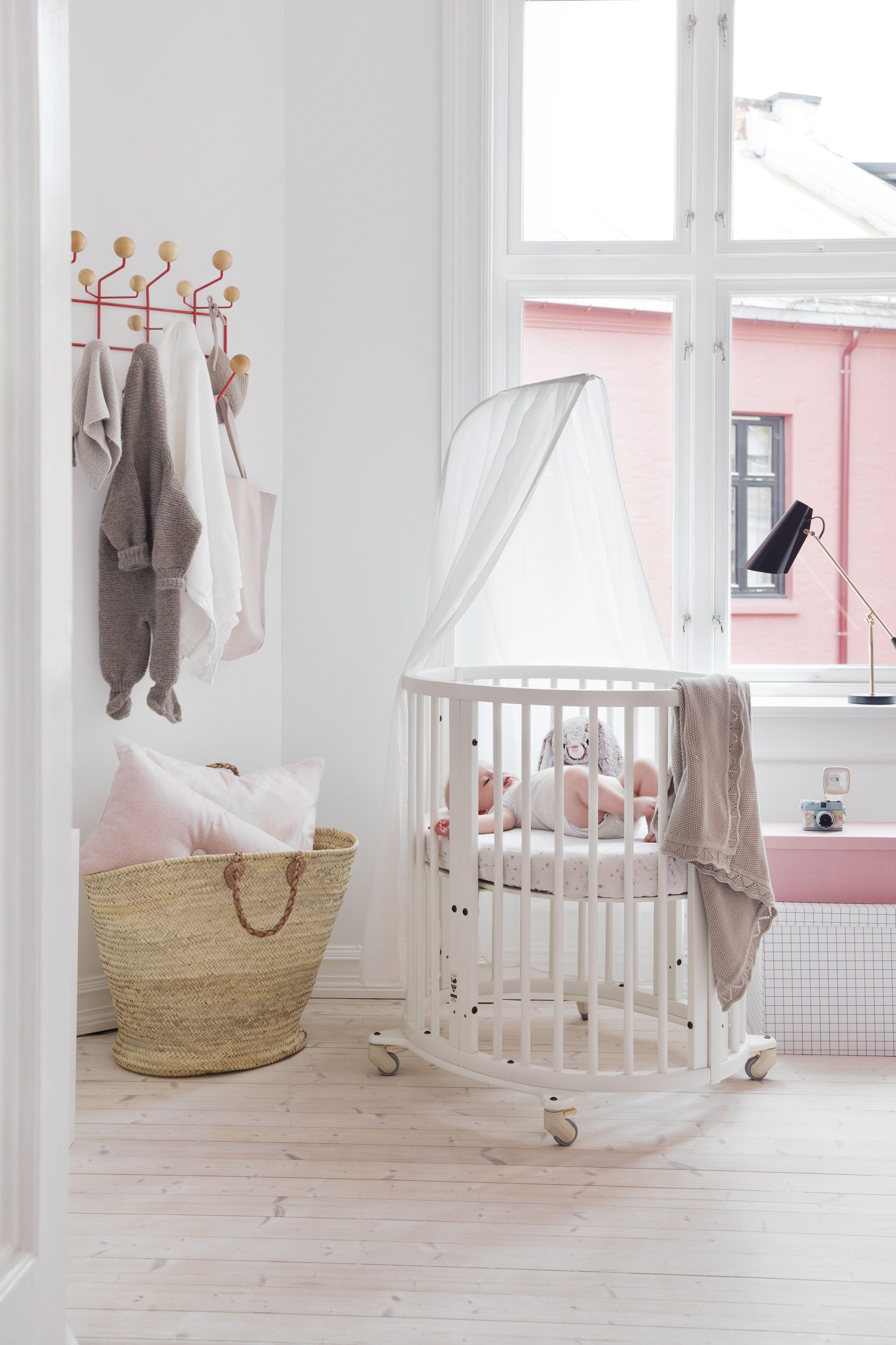 Stunning Scandinavian Designed Oval Shaped Baby Crib