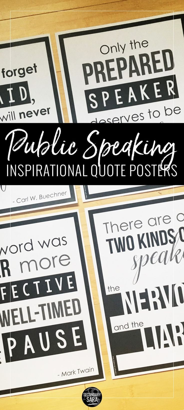 Public Speaking Posters for English Classrooms Public