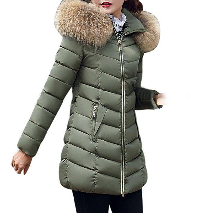 Abrigo piel amazon