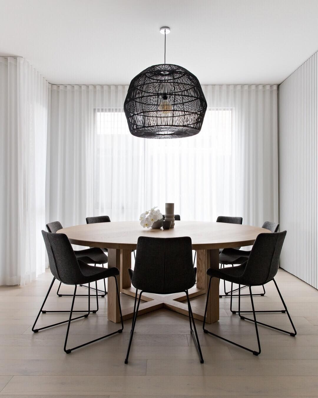 Design Styling Tips On Instagram If You Ask Us Round Tables And Square Dining Rooms Are A Mat Scandi Dining Room Round Dining Room Table Round Dining Room