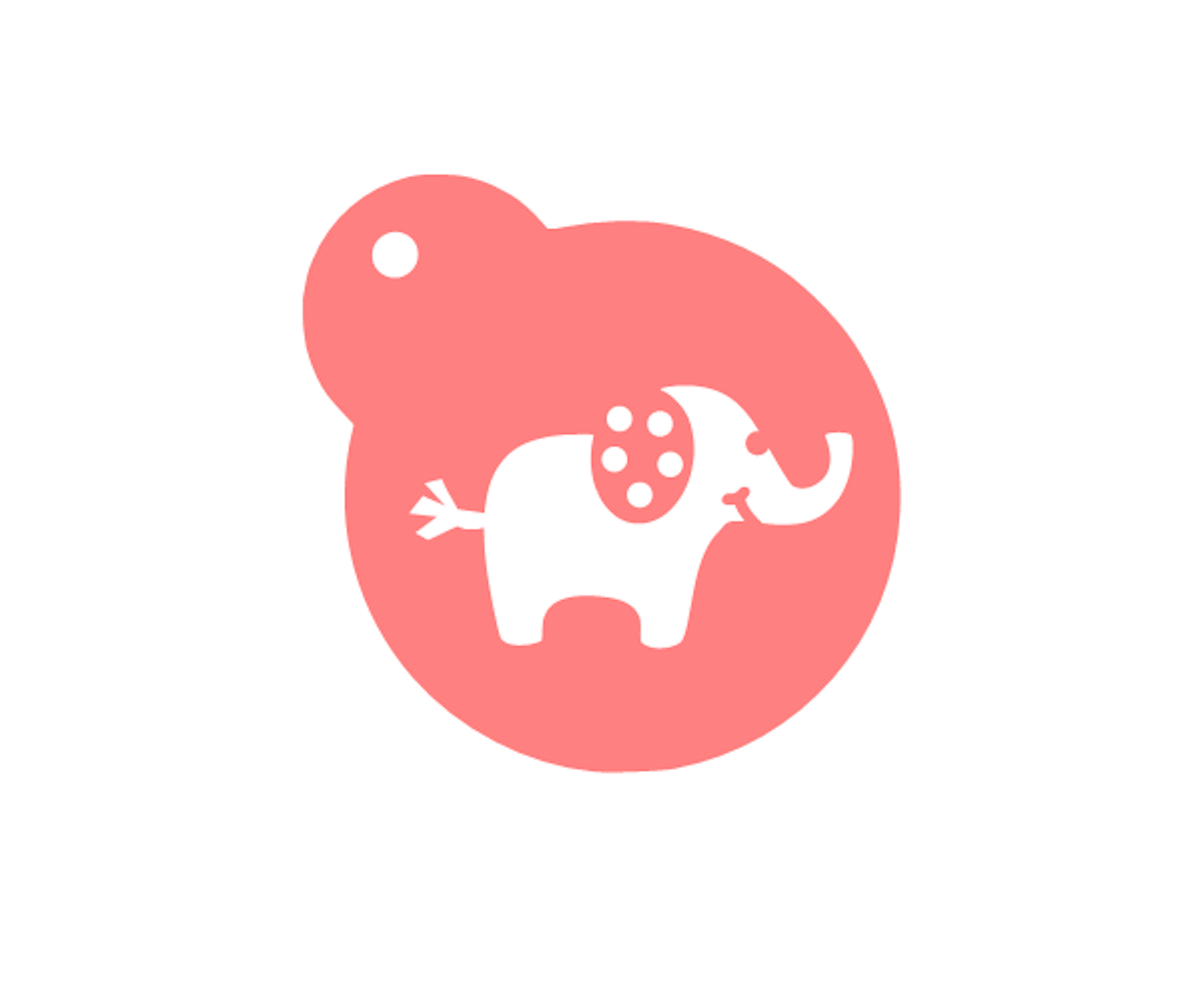 """Baby Elephant Stencil Shower your baking with sweetness! Designed for a 3"""" diameter -Food Safe Plastic"""
