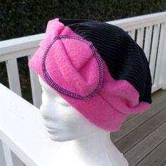 Bonnet chapeau béret polaire et velours cotelé enfant confortable unique hiver