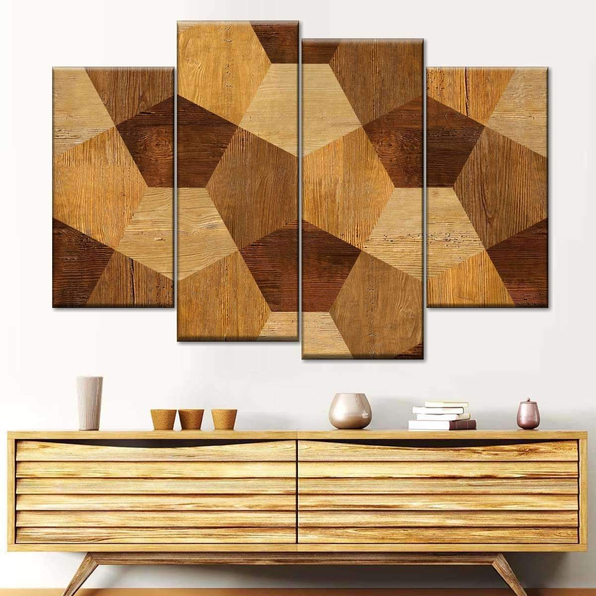 Abstract Wood Decor Multi Panel Canvas Wall Art In 2020 Canvas Wall Art Wood Decor Multi Panel Canvas
