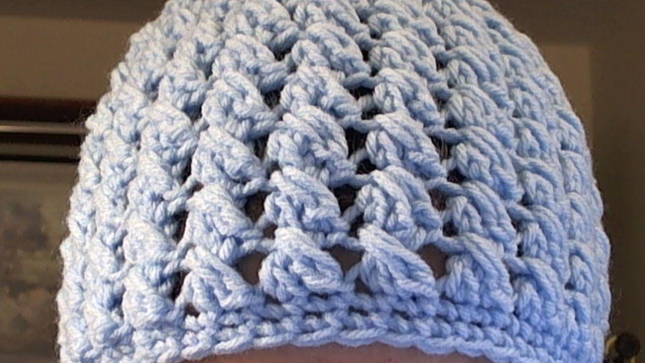 How to crochet a criss cross puff stitch beanie - | Crochet ...