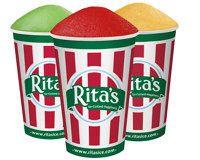 Who doesn't love a Rita's gelati?  My favorite - wild black cherry ice layered with fat free vanilla custard.