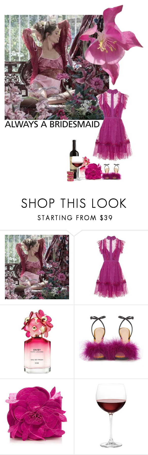 """""""always bridesmaid"""" by izoche ❤ liked on Polyvore featuring Elie Saab, Marc Jacobs, Marco de Vincenzo, Nancy Gonzalez, Nordstrom, Le Pink and alwaysbridesmaid"""