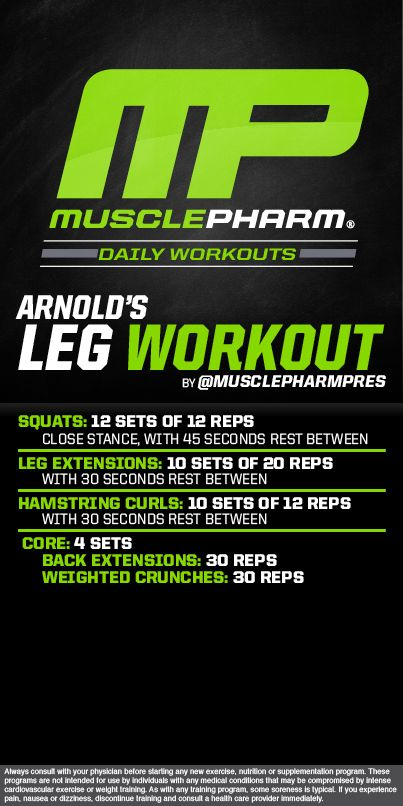 Arnoldu0027s Leg Workout Fitnessss Pinterest Workout, Legs and - new arnold blueprint ebook