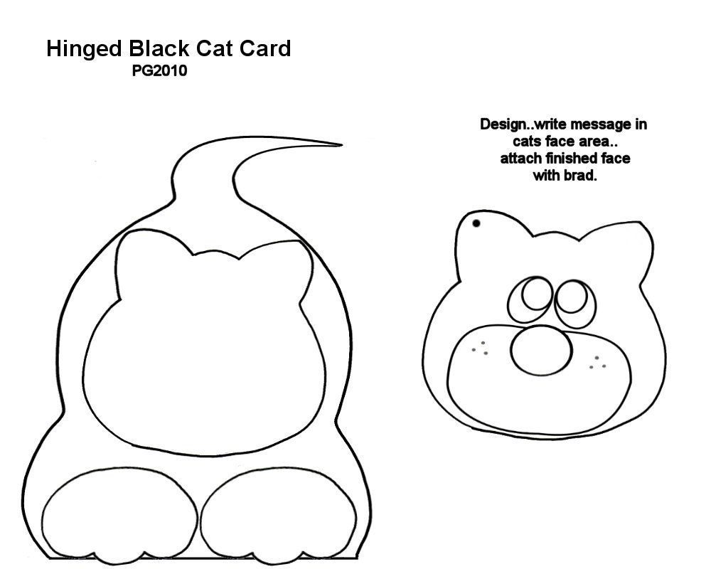 Hidden Message Card Template I Made Cat Cards Message Card Cards