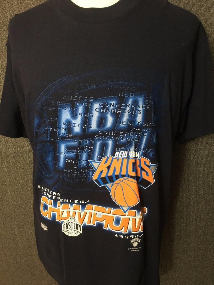 New York Knicks 1999 Eastern Conference Champions Men S T Shirt L Euc Lee Mens Tshirts New York Knicks T Shirt