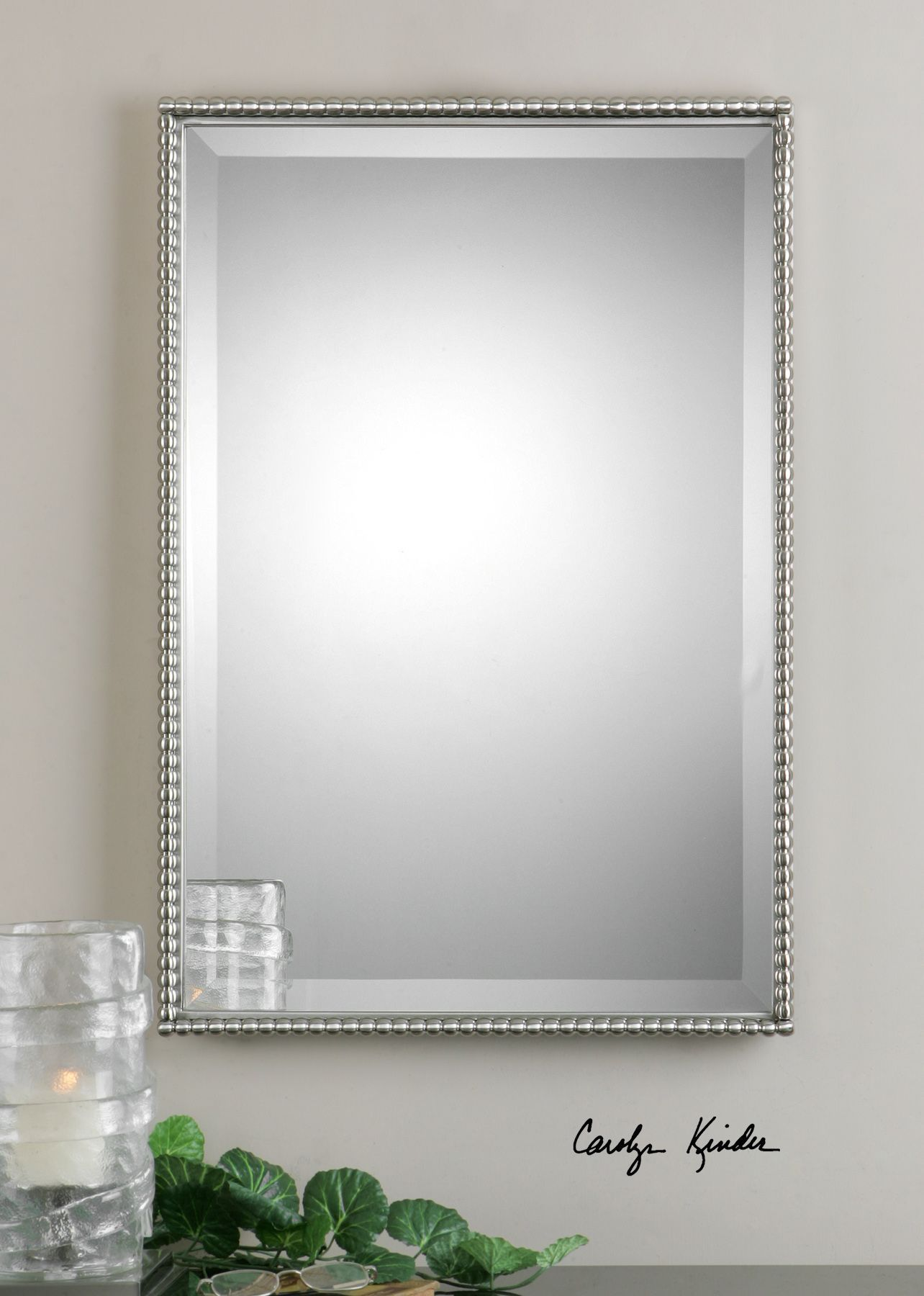 Sherise Brushed Nickel Vanity Mirror Brushed nickel