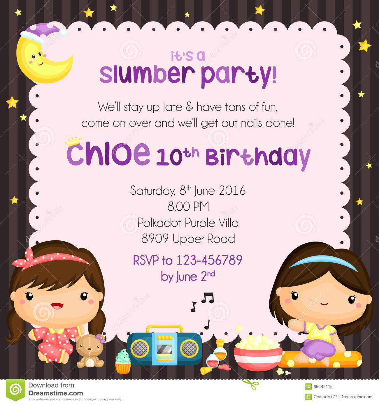 invitation card for a party