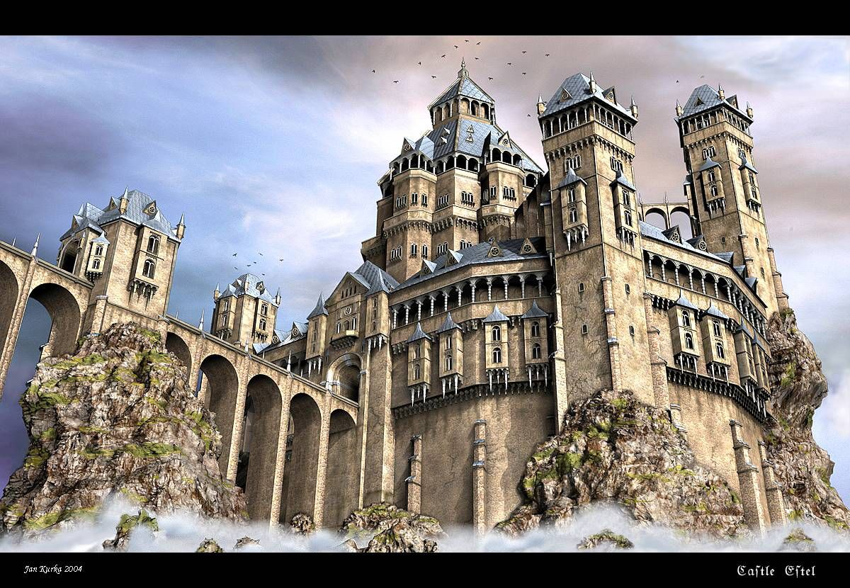 Awesome fantasy castle fantasy castles pinterest for Castle architecture design