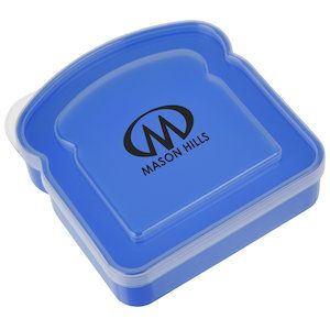 This custom sandwich container boosts your brand at lunch!