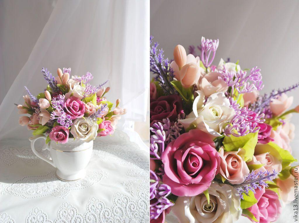 """Купить Букет """"Для любимой мамы"""" - букет из полимерной глины, цветы ручной работы"""