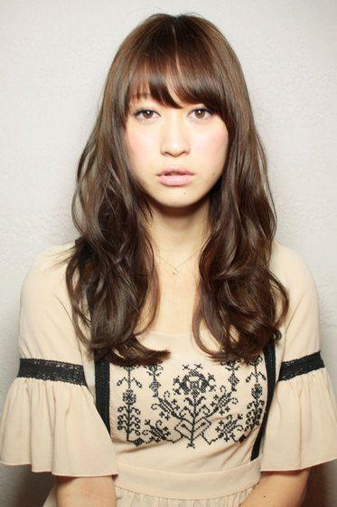 ロングパーマスタイル afloat japanのヘアスタイル dark ash brown