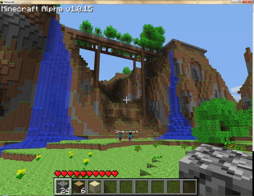 Minecraft Waterfall Mitchell Pinterest - Minecraft bogen spiele
