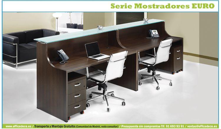 Mostradores y recepciones de oficina serie euro oficinas - Mostradores para oficinas ...