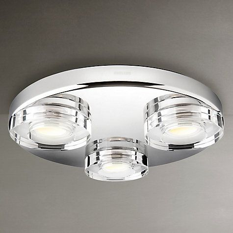 Buy Philips Mira 3 Bulb LED Bathroom Light Online at johnlewis.com ...