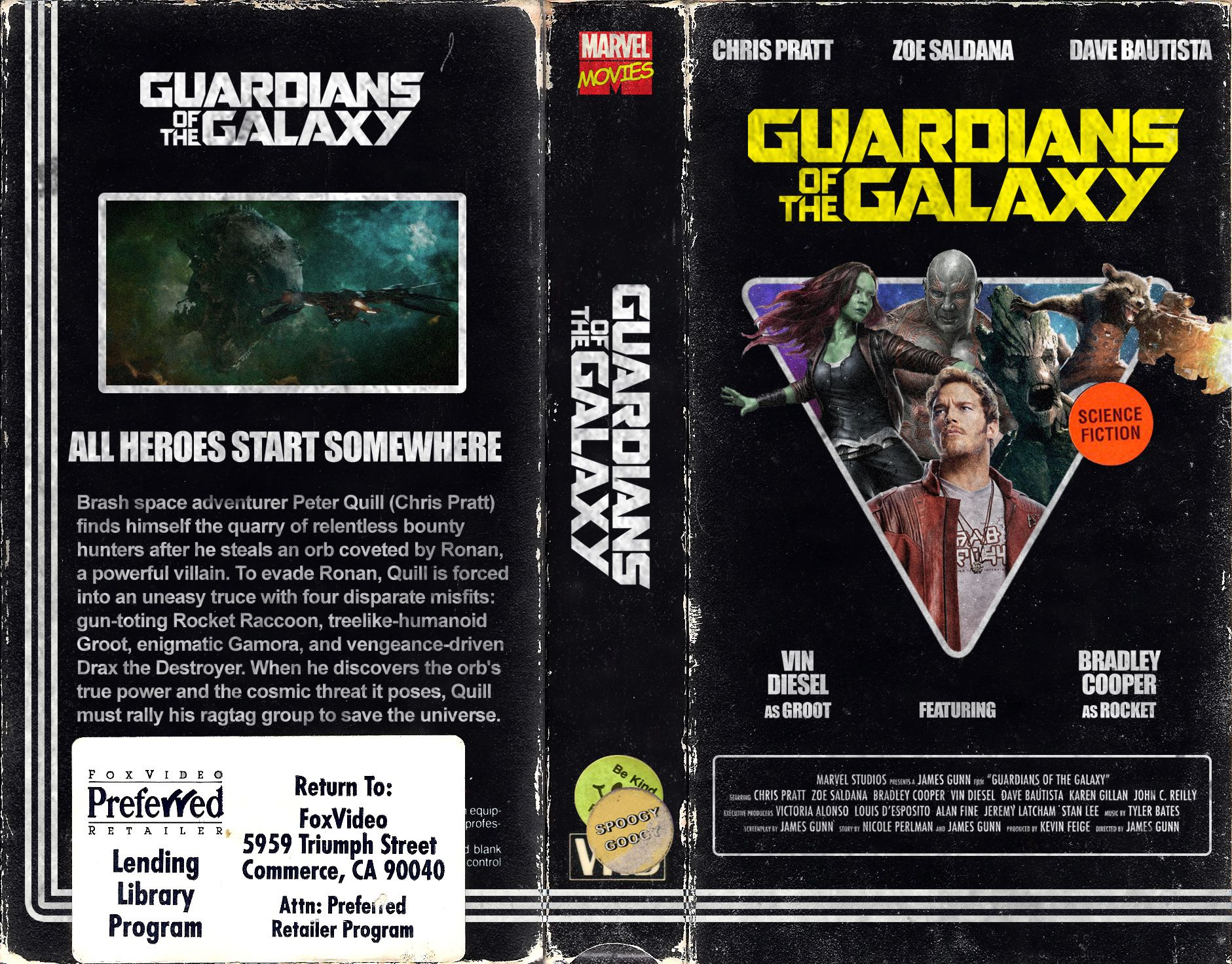 Guardians Of The Galaxy Vhs Cover Art Tema