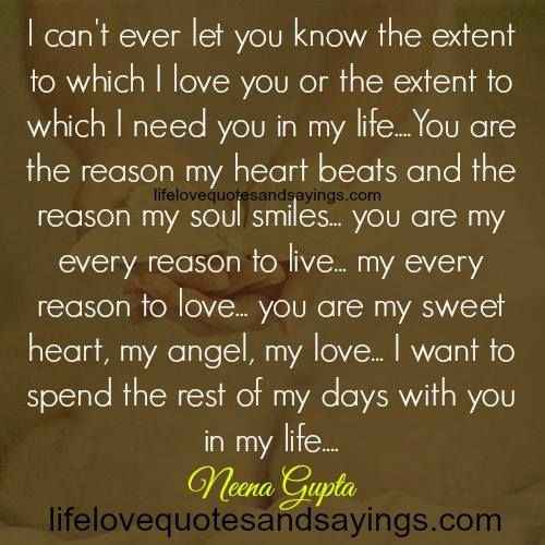 You Are My Every Reason To Live Love Quotes And Sayings Quotes