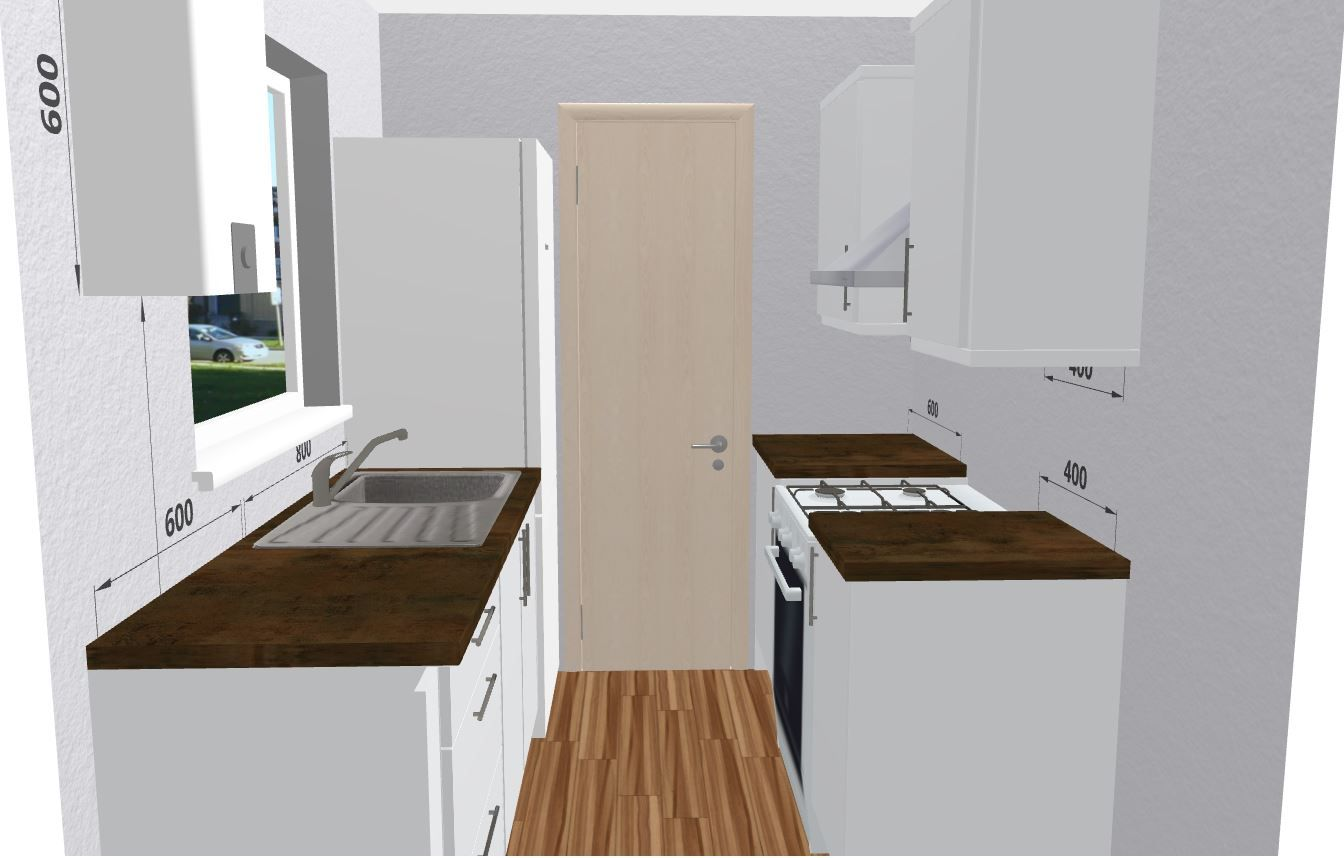 Simplistic and Stylish Small Kitchen Design Use the Free 3D Kitchen