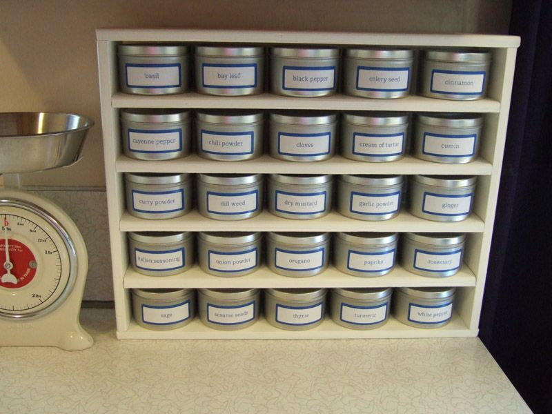 How To Make Your Own Spice Rack, Without Expensive Power Tools. I Need Some