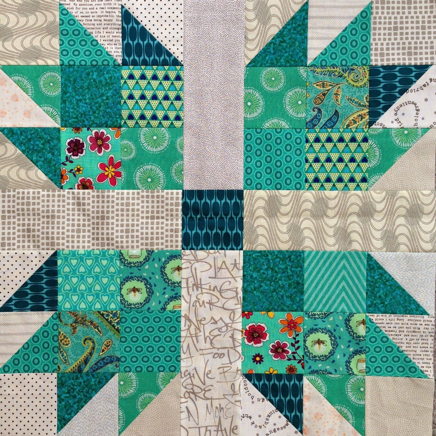 Wendys Quilts And More Scrappy Bear Paw Quilt Half Square